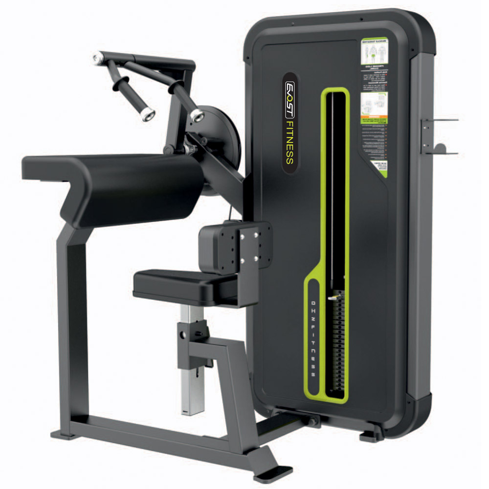 Seated Triceps Flat Fitness Equipments / Gym Strength Machines